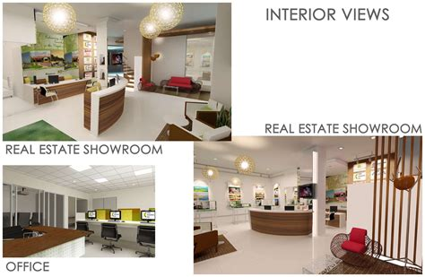 Interior Design For Office & Real Estate Showroom By Faye