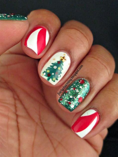 cool christmas tree nail designs