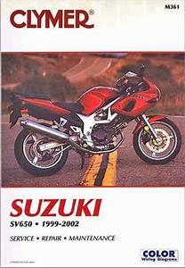 Suzuki Sv650  Sv650s 1999 - 2002 Clymer Owners Service  U0026 Repair Manual