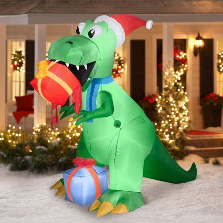 rex  present airblown inflatable christmas prop