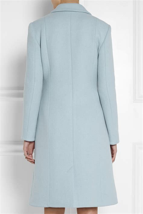 woolen plain coat light blue wool coat jacketin