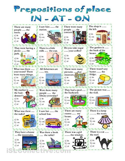 All Worksheets » Preposition Of Place Exercises Worksheets  Printable Worksheets Guide For