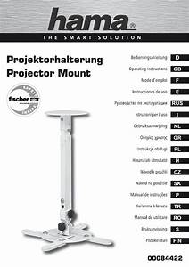 Hama 00084422 Projector Mount For Wall  Ceiling Mounting Le