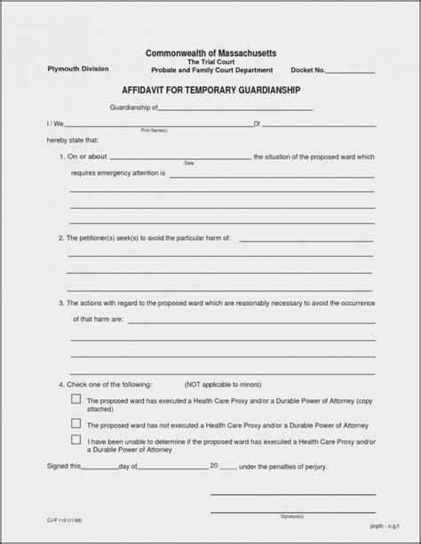 printable guardianship forms florida form resume