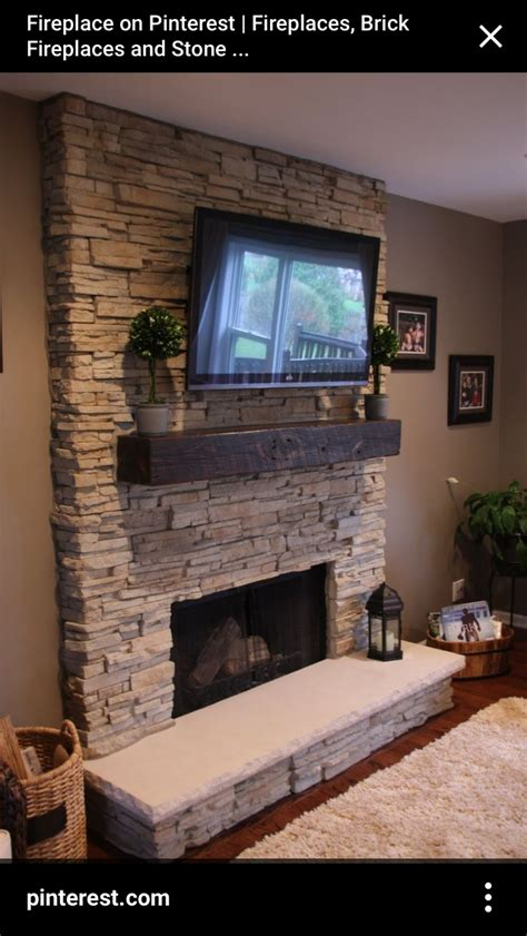 inset tv  fireplace stone fireplace designs home