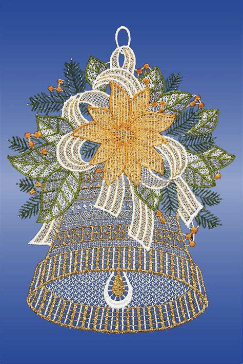Fensterdeko Weihnachten Rot by Fensterbilder Plauener Spitze Weihnachten Glocke G 252 Nstig