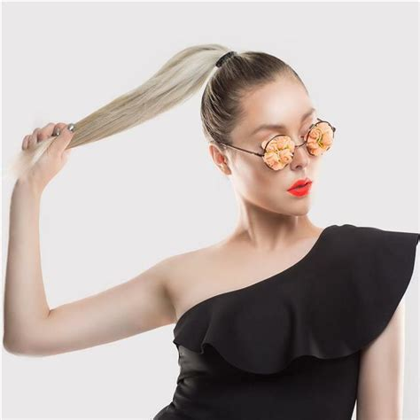 ponytail extensions hair clip human remy extension