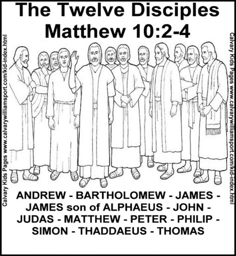 disciples coloring page children  worship pinterest coloring sunday school