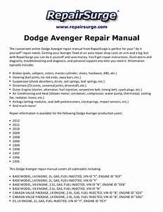 Dodge Avenger Repair Manual 1995