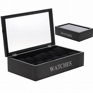 Coffret Rangement Montre : coffret de rangement 12 montres hommes et femmes ~ Teatrodelosmanantiales.com Idées de Décoration