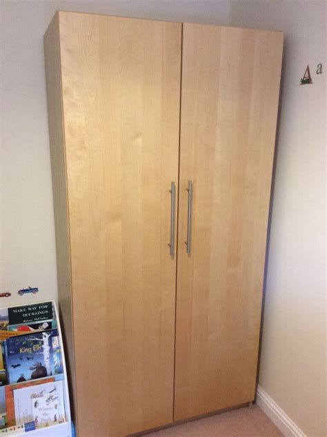 Wardrobe With Shelves Only by Large Ikea Pax Wardrobe Birch With Two Drawers Hanging
