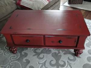 distressed barn red coffee table diy crafts that i With red distressed coffee table