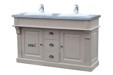 meuble de salle de bain 2 vasques plateau zinc