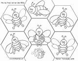 Bees Templates sketch template
