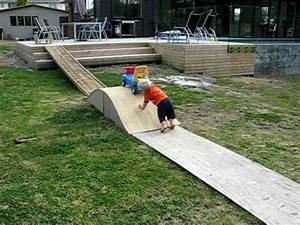 Baby nails home made skate ramp - YouTube