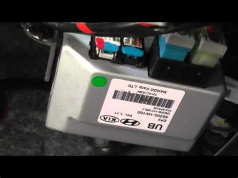 Kia Rio Eps Module Electronic Power Steering Youtube