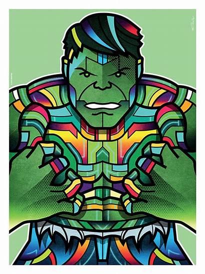 Superhero Van Avengers Colorful Orton Hulk Marvel