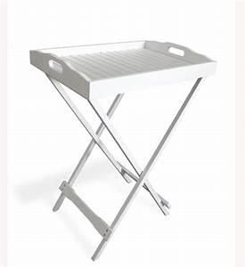 Tisch Weiß Holz : tablett tisch wei im greenbop online shop kaufen ~ Indierocktalk.com Haus und Dekorationen