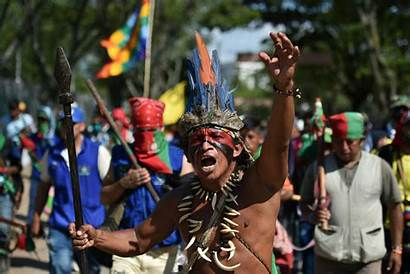Indigenous Colombia Colombian Meeting Protests Minga American