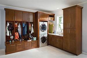 mission cherry chocolate transitional laundry room With kitchen cabinets lowes with art deco wall clocks ebay