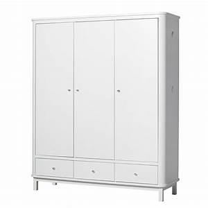 Kleiderschrank 3 Türig Weiß : oliver furniture wood kleiderschrank 3 t rig wei online kaufen emil paula ~ Indierocktalk.com Haus und Dekorationen