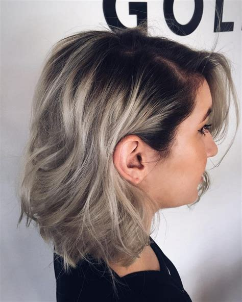 Blonde Hair Black Roots Dazzling Silver Ombre For 2017 New Hair Color Ideas