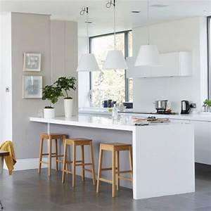 Simple modern kitchen open plan kitchen ideas for Simple modern kitchen designs