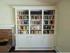 Storage  Shaker Style Bookcase Ideas With White Theme Shaker Style Bookcase