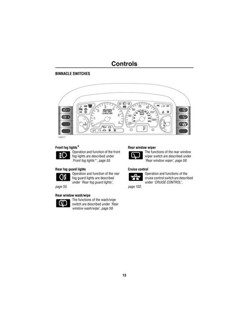 Land Rover Discovery II 2 owners manual page 6 - pdf