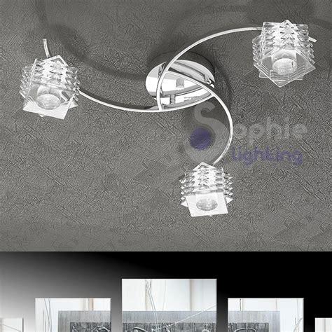 plafoniere a soffitto moderne plafoniera moderna soffitto 3 bracci cristalli cubo
