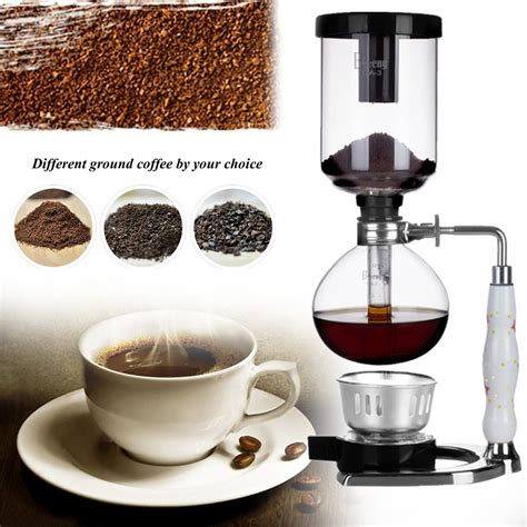 While other coffee makers use innovation and technology to brew the coffee, its work is quite traditional. 3 Cups Glass Syphon Coffee Maker Machine Brewer Siphon Vacuum Pot Filter Bottle Euro 55 ...
