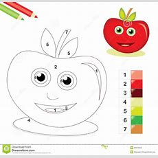 Color By Number Game With Apple Royalty Free Stock Photo  Image 20475505