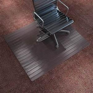 acheter vidaxl tapis de chaise plancher bambou marron With tapis de chaise