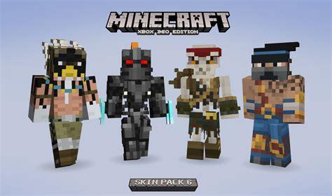 minecraft dernieres news nouveau pack de skins sur xbox
