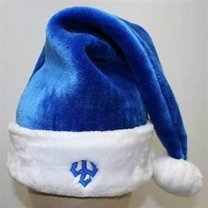 blue santa hats tag hats