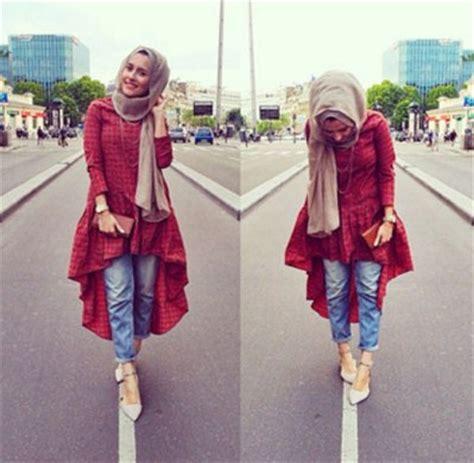 pergi traveling gaya hijab  cocok