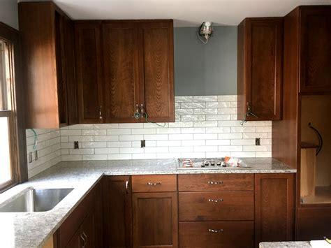 st paul kitchen remodel quartz countertops subway tile backsplash