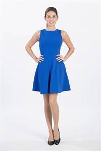 robes elegantes france robe bleu electrique courte With robe bleu or