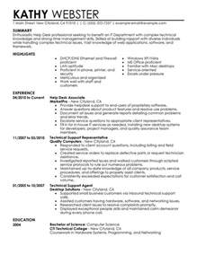 help desk resume sle my perfect resume