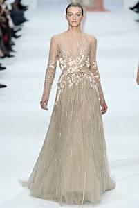 elie saab haute couture spring summer 2012 pale taupe With robe de soirée libanaise