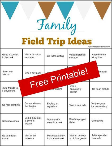 field trip ideas family field trip ideas printable hip homeschool moms