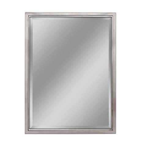 Chrome Framed Bathroom Mirror by Deco Mirror 30 In W X 40 In H Classic Metal Framed Wall
