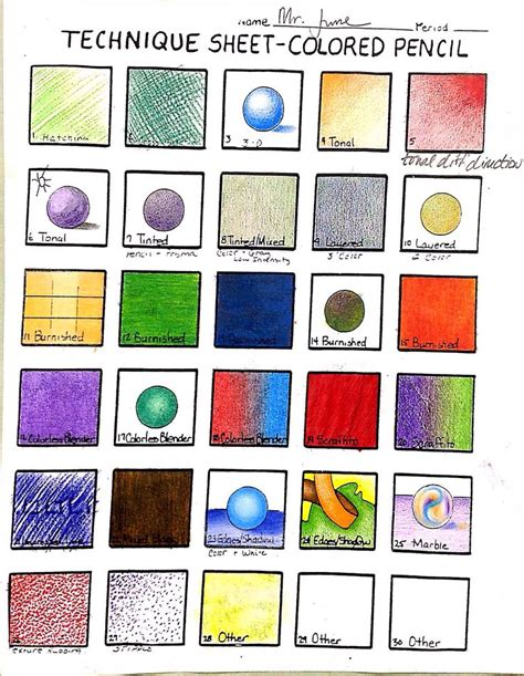 Coloring Techniques by Color Pencil Techniques Coloring Tips And