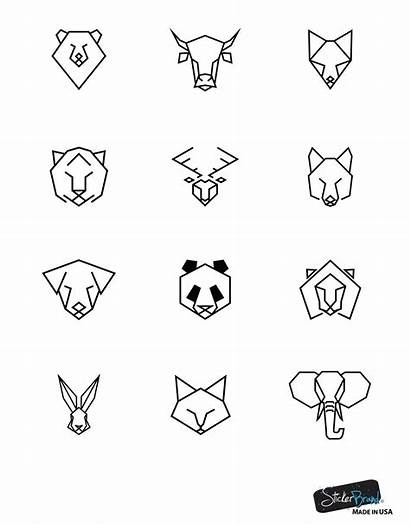 Geometric Animal Tattoo Trendy Cat Easy Drawings