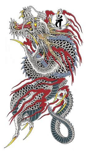 chinese yakuza dragon tattoo design