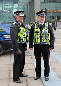 British Transport Police senior officers at Canary Wharf ...