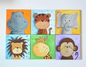 Tierbilder Für Kinderzimmer : bilder tierbilder handgemalt nach wahl dschungeltiere ein designerst ck von gista bei dawanda ~ Sanjose-hotels-ca.com Haus und Dekorationen