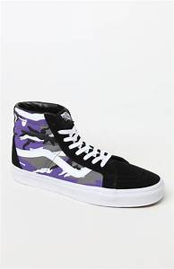 Size 7 Shoe Conversion Chart Vans Pop Camo Sk8 Hi Reissue Shoes In Purple For Men Lyst
