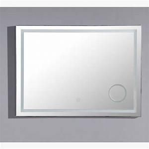 miroir led zoom 120 cm salle de bain avec loupe retroeclairee With miroir salle de bain 120 cm