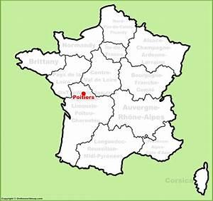 Poitiers Carte De France : poitiers location on the france map ~ Dailycaller-alerts.com Idées de Décoration